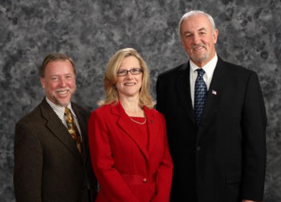 SACOG Board member Tom Cosgrove, Celia McAdam, and Placer County Supervisor Jim Holmes