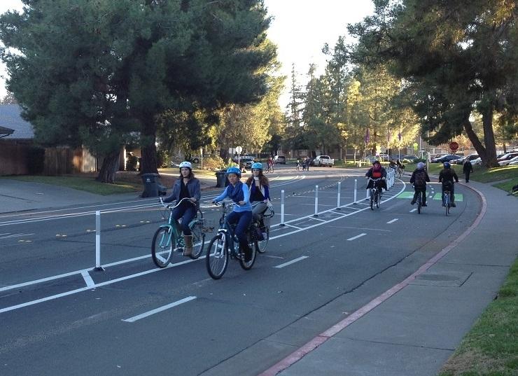 City of Davis Class IV Bikeway