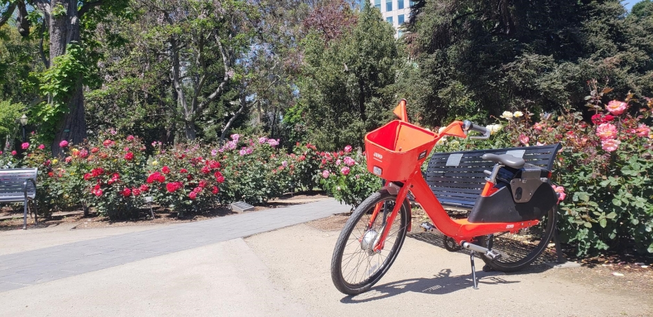 JUMP bikes may not have brought about world peace (in the World Peace Rose Garden) but they have changed lives.