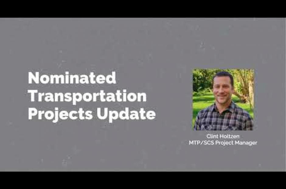 Discussion Draft Transportation Scenario