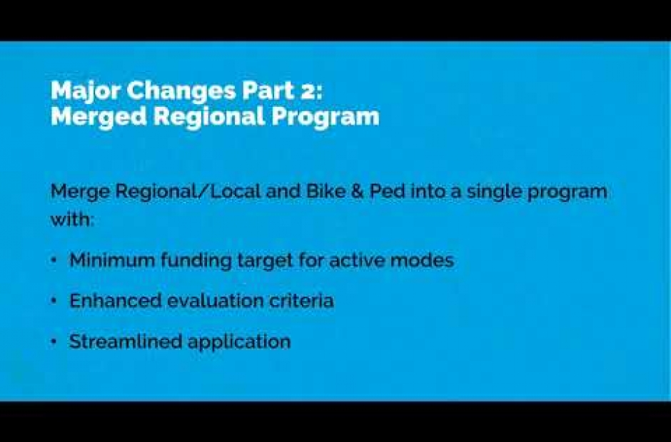 2018 Regional Funding Round Updates