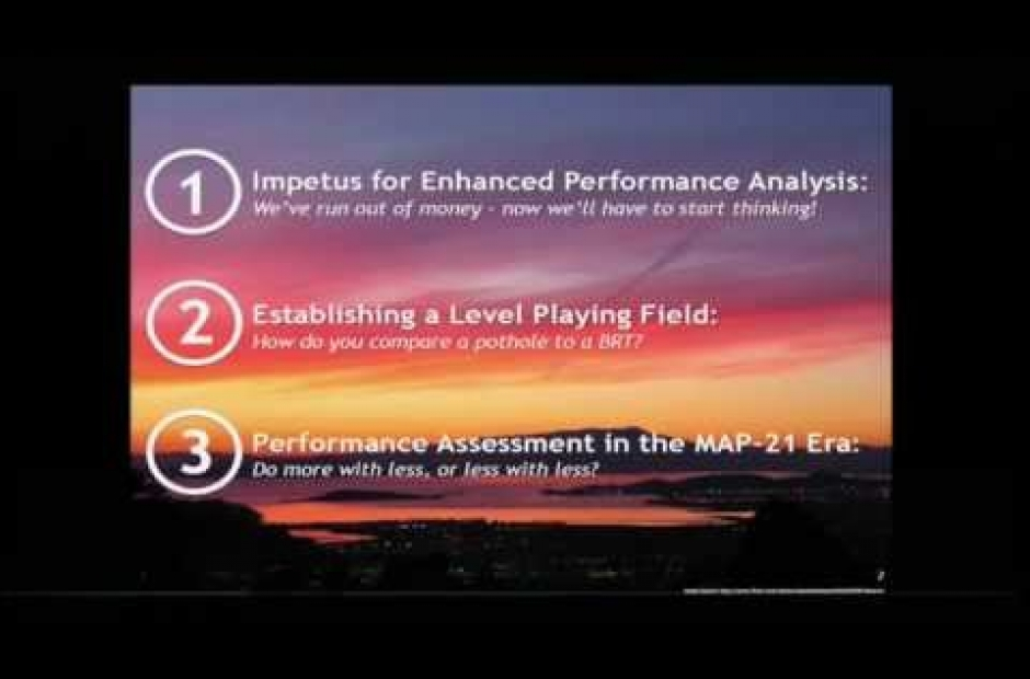 Performance Assessment for the SF Bay Area's Regional Transportation Plan