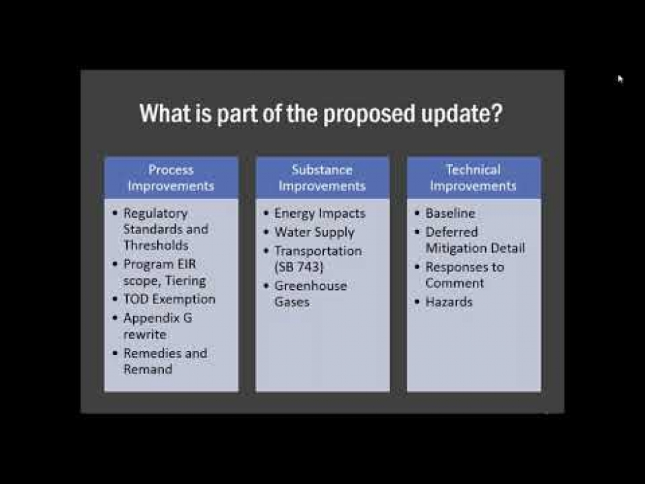 Webinar: Updates To The CEQA Guidelines & SB 743