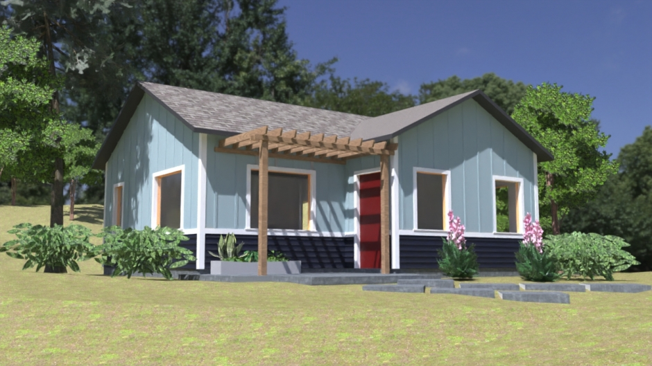 A rendering of one of Citrus heights' pre-approved Accessory Dwelling Units.