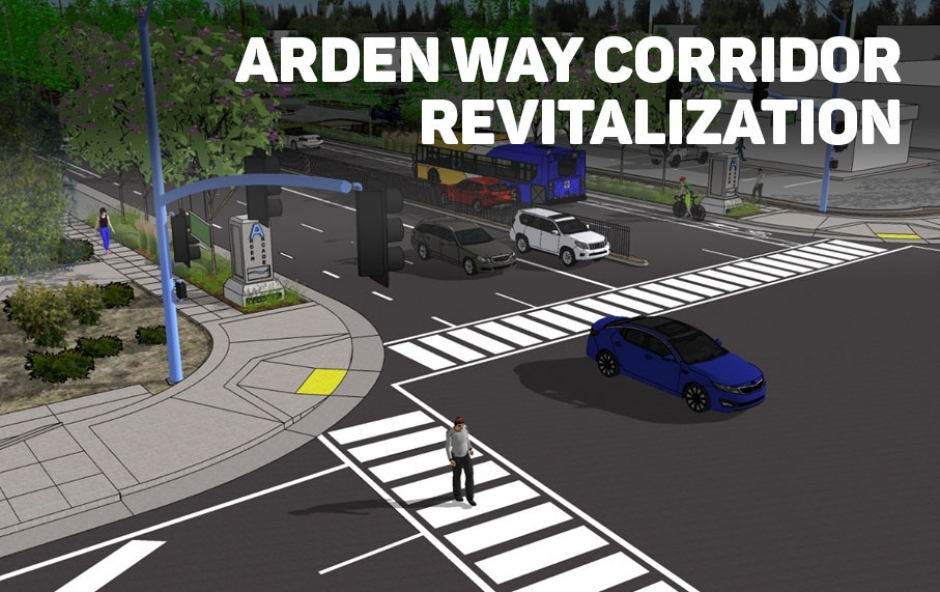 A rendering of some of the improvements on Arden Way.
