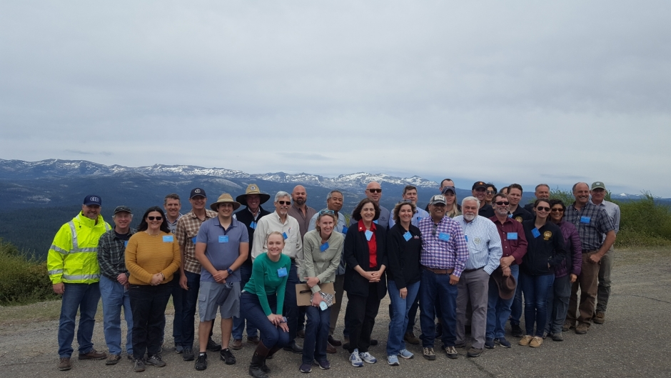 The RUCS forestry management tour group.